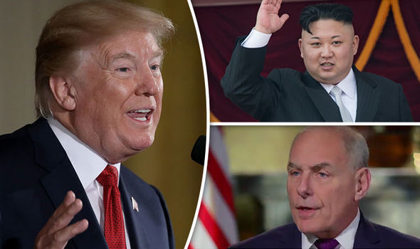 Donald Trump, Kim Jong-un and John Kelly