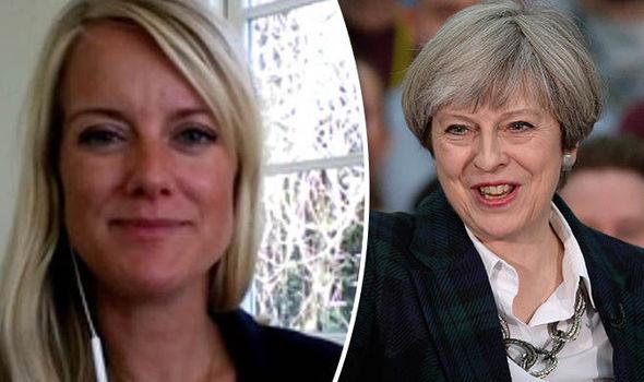 Pernille Vermund and Theresa May