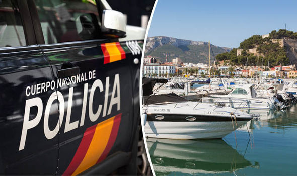Police and Costa Blanca island