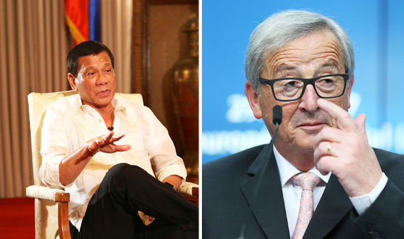 President Rodrigo Duterte and Jean Claude-Juncker