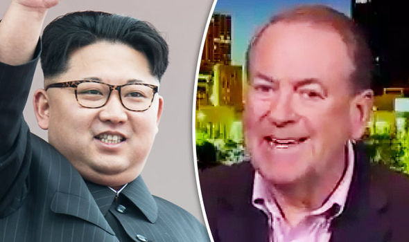 Kim Jong-un and Mike Huckabee