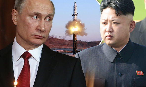 Putin and Kim Jong'un