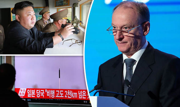 Nikolai Patrushev and Kim Jong-un