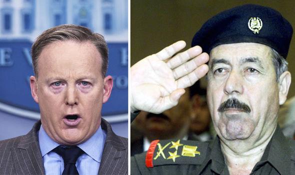 Saddam Hussein Chemical Ali Donald Trump Sean Spicer