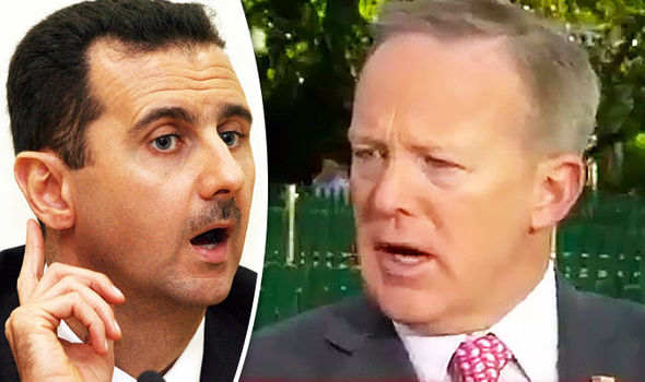 Bashar al-Assad and Sean Spicer