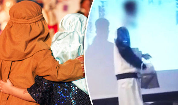 A refugee stormed a stage in Austria
