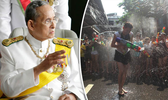 Songkran King Bhumibol Adulyadej