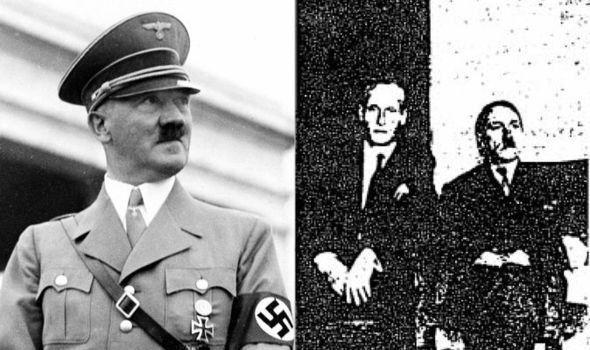 The document dump included a photo of a man alleged to be Hitler