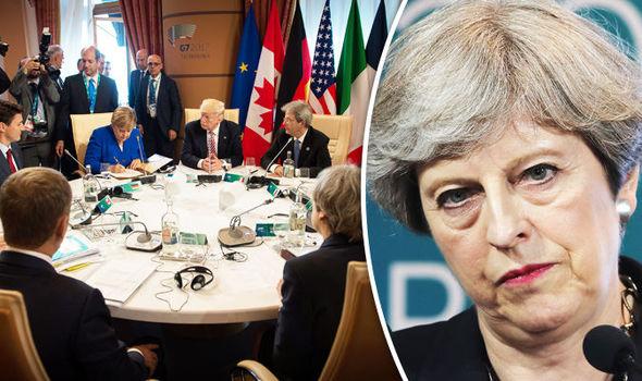 Theresa May at the G7