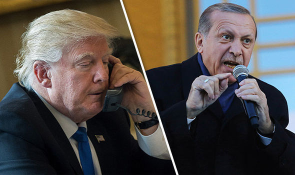 Trump Turkey Erdogan congratulations phone