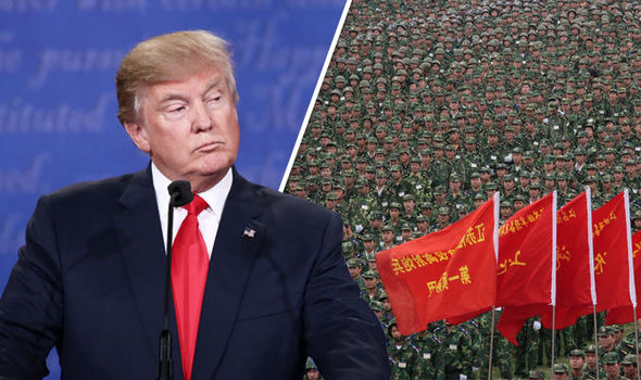 Donald Trump and China army
