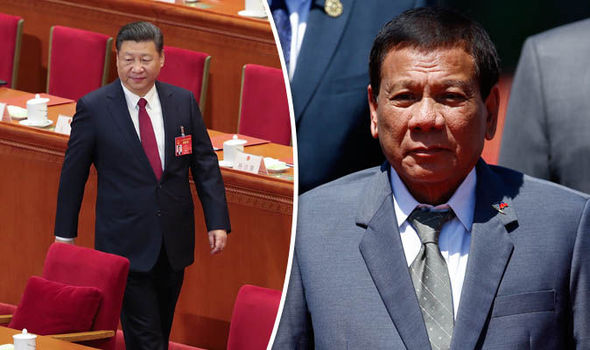 Xi Jinping and President Rodrigo Duterte