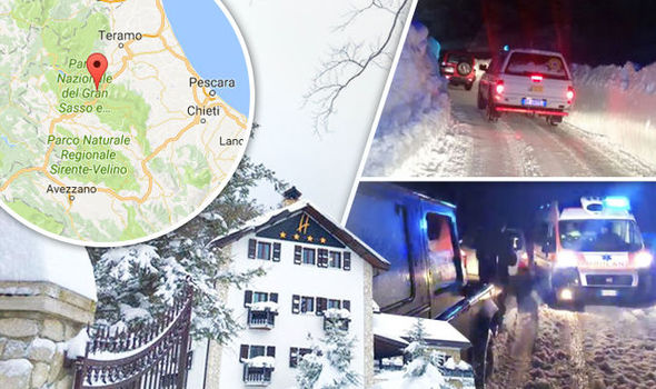 An avalanche has hit Hotel Rigopiano in Italy