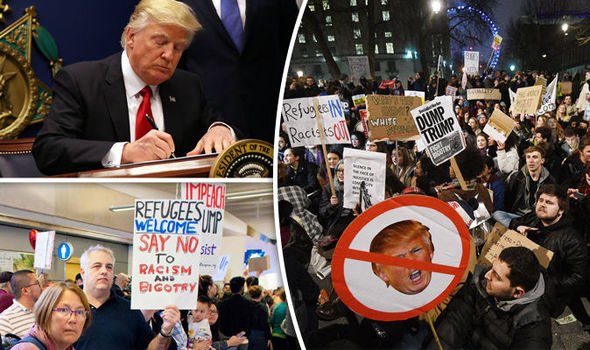 Donald Trump's ban sparks protests