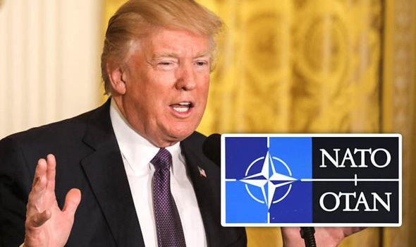 Donald Trump and Nato symbol