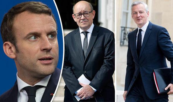 Emmanuel Macron looking surprised