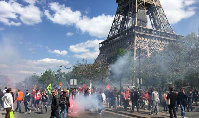 Image result for Paris protest against Macron...
