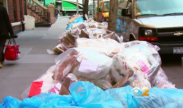 Rubbish in New York Streets