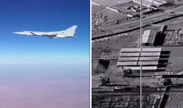 Russian bombers target ISIS in Syria