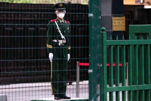 A North Korean border guard