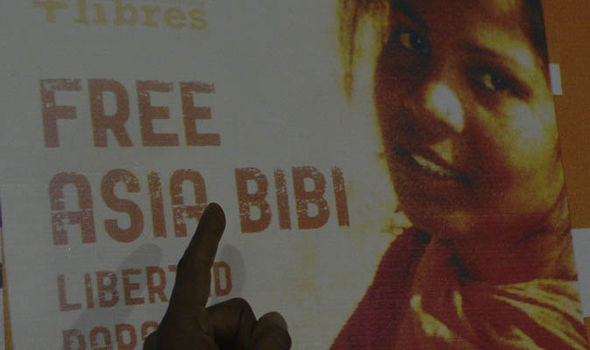 A campaign poster to free Asia Bibi