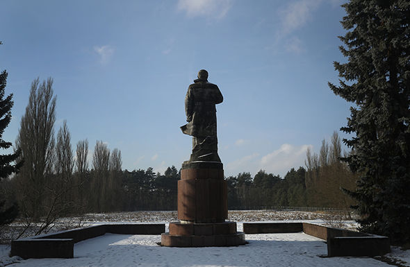 A grandoise statue of Lenin was a firm feature of the hidden city for former families to see