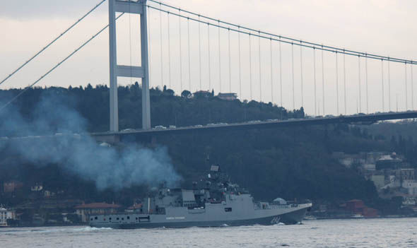 Admiral Grigorovich sailing towards Syria
