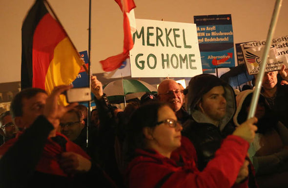 AfD supporters protest