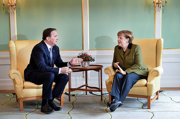 Angela Merkel and Swedish PM