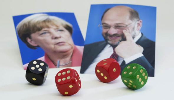 Angela Merkel and Martin Schulz german election