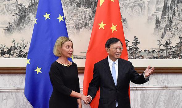 Federica Mogherini in Beijing