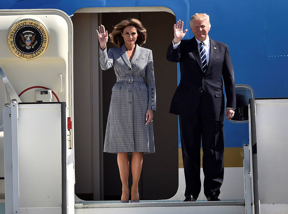 Trump touches down in central Brussels