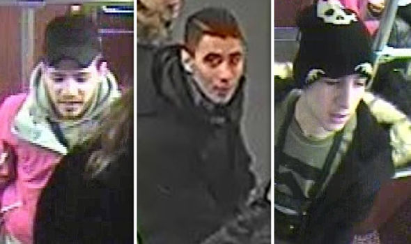 Officers are searching for the men seen in the CCTV