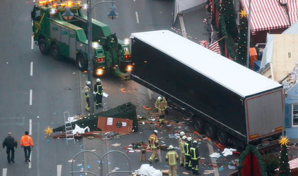 Merkel Berlin truck