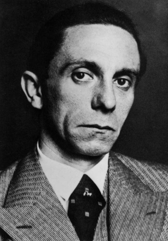 Joseph Goebbels black and white