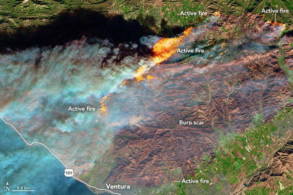 California fires: path of destruction