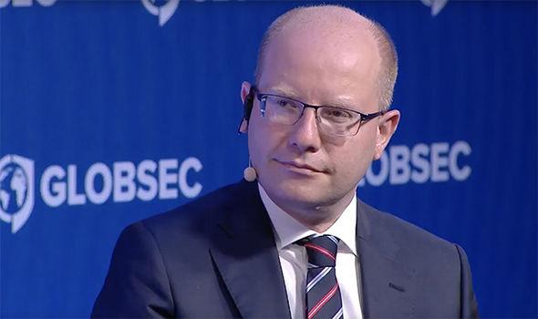 The Czech Republic leader