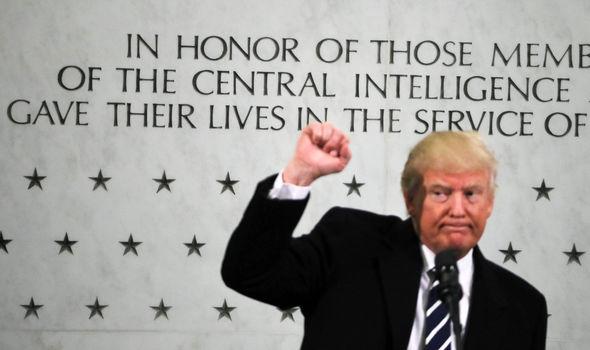 Donald Trump at CIA