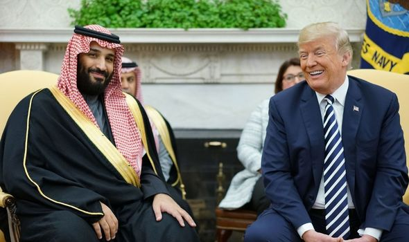 Donald Trump and Prince Mohammed