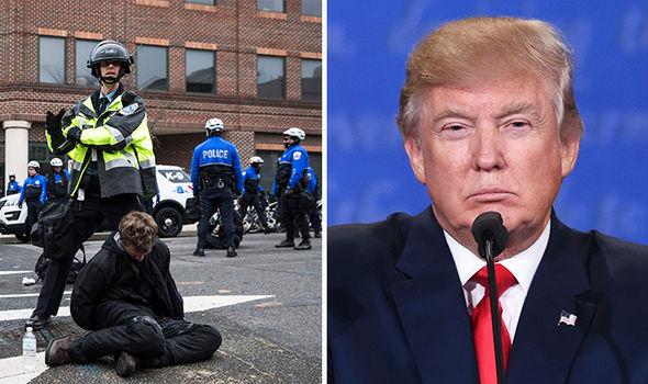 Donald Trump inauguration Washington protest