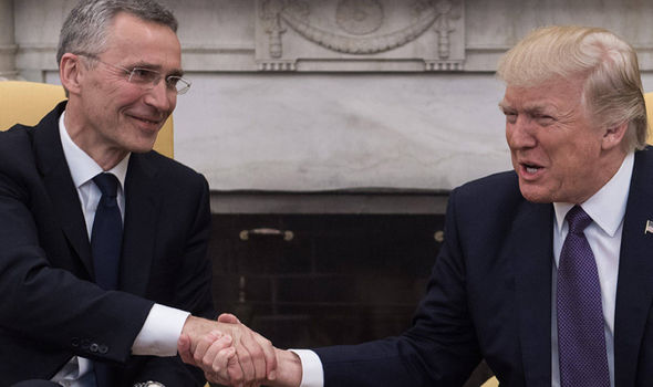 Trump and Secretary General Jens Stoltenberg