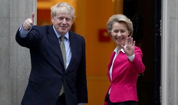 EU news: Boris Johnson alongside Ursula von der Leyen