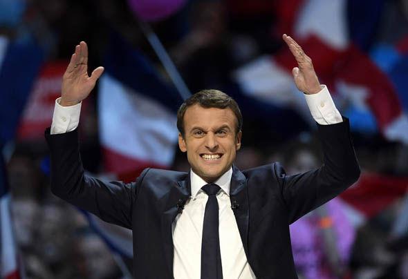 Emmanuel Macron in France