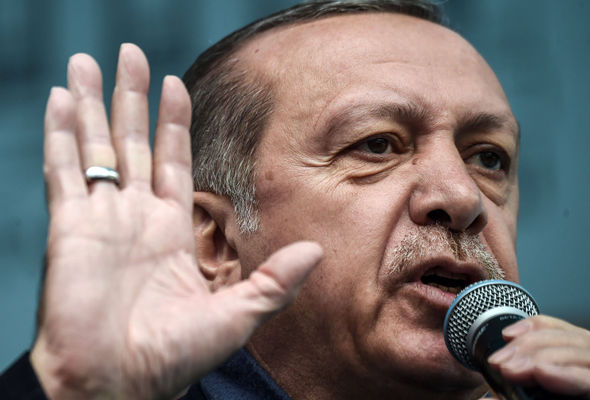 President Erdogan has threatened to put Turkey's plans for EU membership to a vote