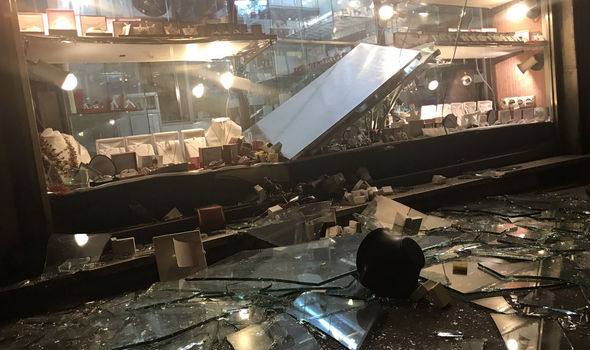 Shops have been looted by vandals intent on destruction