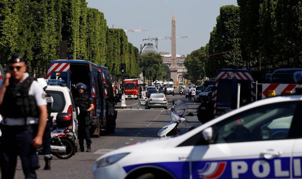 Champs-Elysees: Live images after car hits police