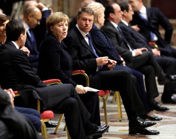 German Chancellor Angela Merkel attended