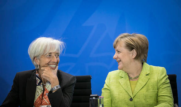 Merkel has been meeting with IMF chief Christine Lagarde