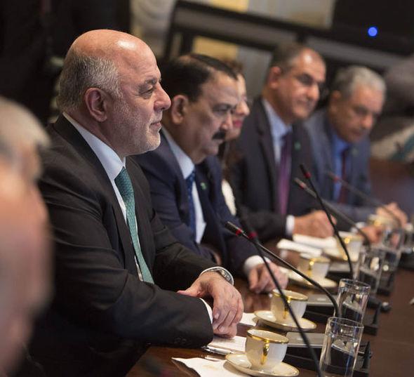 Haider al-Abadi speaking