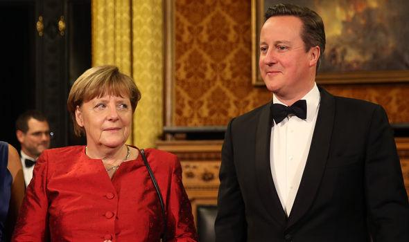 Angela Merkel met David Cameron in Hamburg last year